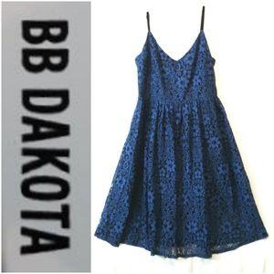 Bb Dakota Cobalt Embroidered Dress
